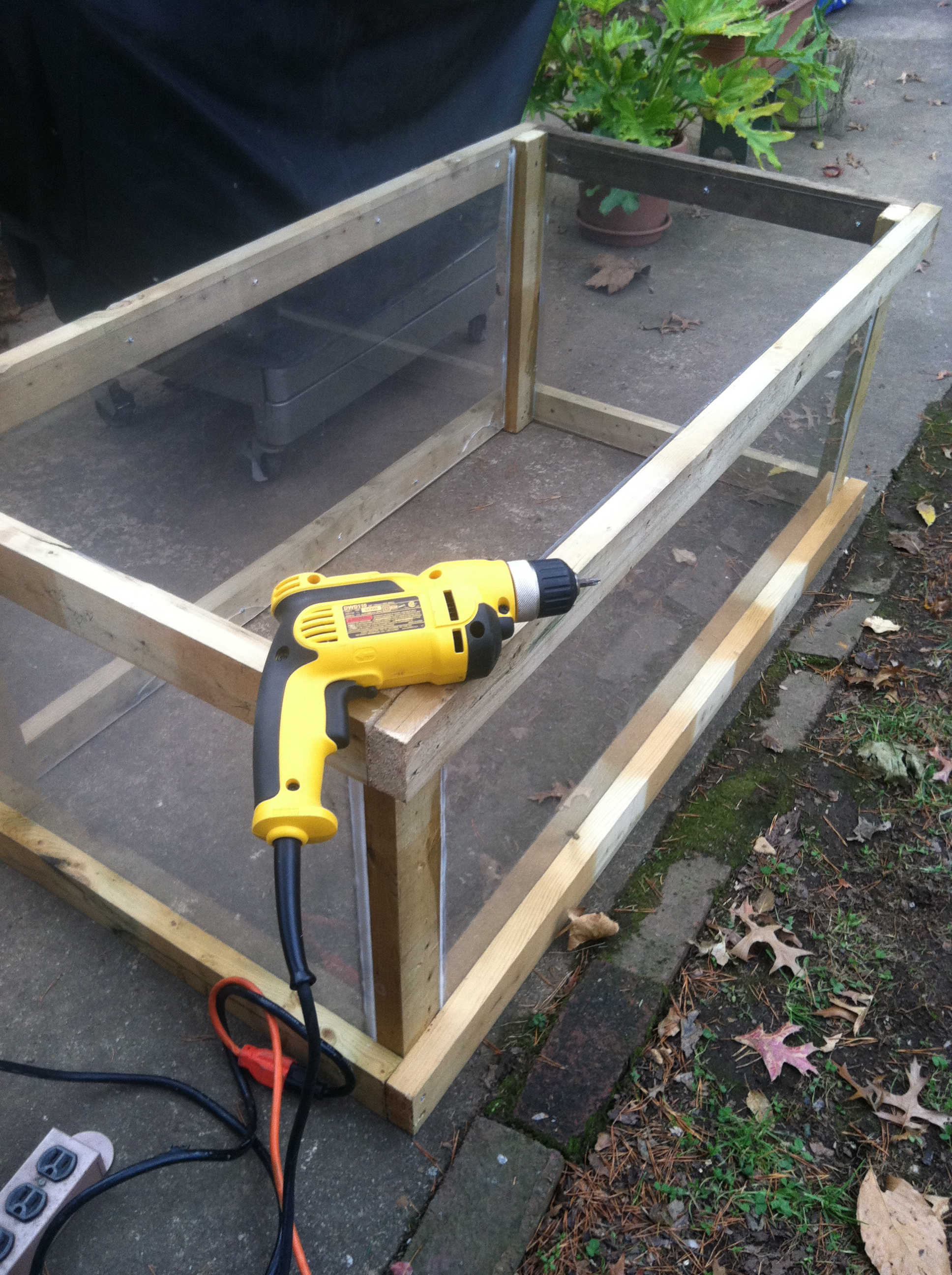 the first races cold frame under construction