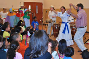 Raíces Cultural Center Ensemble performance at the Greater Brunswick Charter School in New Brunswick, NJ. All performances are interactive and include audience participation.